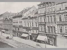 Část jižní strany Příkopů - Proměny History Photos, Old Pictures, Czech Republic, Prague, Retro, Historia, Antique Photos, Historical Pictures, Old Photos