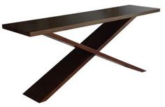 Justin Dark Brown Console By Mecox Gardens  Price: $2,050.00