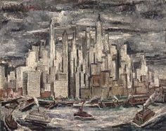 Adriaan Lubbers (Dutch, 1892–1954), South Ferry, New York, 1931. Oil on canvas, 65.5 x 81.5 cm.