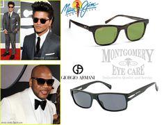 2012 #Grammys Eyewear for Men: Bruno Mars and Flo Rida