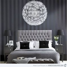 15 Black and White Bedroom Ideas | Home Design Lover  Black white and grey