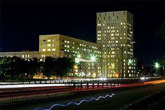 Harvard Business School in night