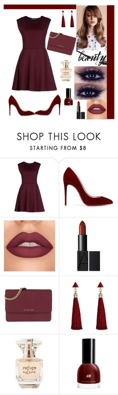 """""""Dinner With Friends :)"""" by edyta-murselovic ❤ liked on Polyvore featuring Hope Collection, Christian Louboutin, MICHAEL Michael Kors, Refuge, love, NightOut, stylish and New"""