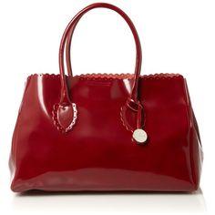 Furla Futura tote bag ($180) ❤ liked on Polyvore featuring bags, handbags, tote bags, purses, bolsas, women, red tote bag, leather hand bags, handbags & purses and leather tote