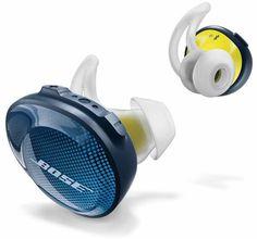 Bose in-ear bluetooth sport koptelefoon soundsport free blauw/geel In Ear Headset, Wireless In Ear Headphones, Sport Earbuds, Sports Headphones, Iphone Headphones, Music Headphones, Workout Headphones, Scrappy Quilts, Buttons