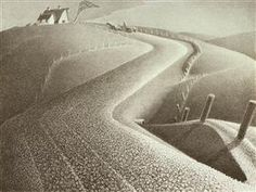 March - Grant Wood