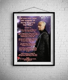 The Tragedy Of Darth Plagueis The wise - Star wars inspired Print - BUY 2 Get 1 FREE by ShamanAlternative on Etsy