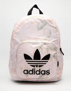 adidas Originals Pastel Rose Backpack at ASOS. Mochila Adidas, Adidas Bags, Adidas Shoes, Adidas Backpack, Shoes Sneakers, Adidas Originals, Mochila Jansport, Sacs Design, Cute Backpacks