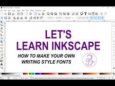 31 - How to make a writing style font - YouTube