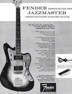 Gallery: Vintage Music Gear Magazine Ads From 1950 through the take a look at how your favorite vintage gear was originally marketed. Fender Guitars, Gretsch, Stratocaster Guitar, Fender Vintage, Vintage Guitars, Les Paul, Amazing Grace, New Pickup