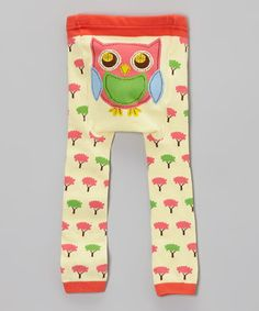 Love this Light Yellow Tree Owl Leggings - Infant on #zulily! #zulilyfinds