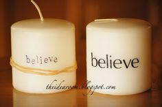personalized embossed candles! These would make a great gift for pretty much ANYONE.  <3
