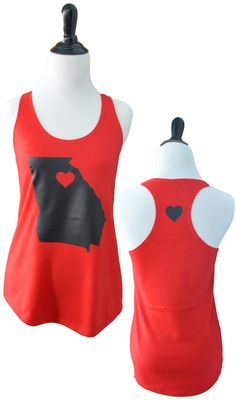 UGA State Tank - www.TailgateQueen.com #dawgstyle