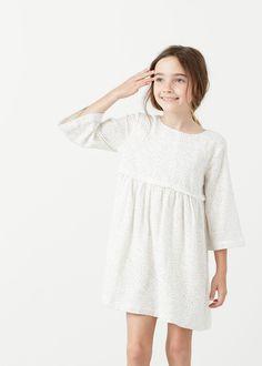 Fringed polka-dot dress -  Kids | MANGO Kids Canada