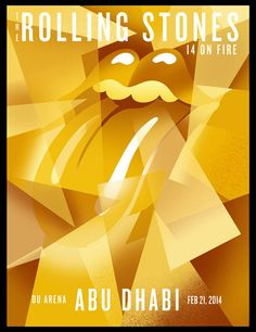 The Rolling Stones Abu Dhabi | 14 On Fire - Gig Poster