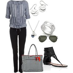 Black & White Color Outfit Idea, created by thebeautyinsiders on Polyvore