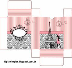 Precioso París: Cajas para Imprimir Gratis. | Oh My Fiesta para Chicas!