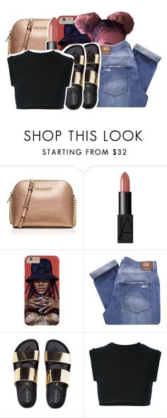 """You the sugar honey ice tea💞"" by ayeeitsdessa ❤ liked on Polyvore featuring MICHAEL Michael Kors, NARS Cosmetics, Nobody Denim and adidas Originals"