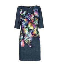 FashionSupreme - Rochie neagră cu fluturi multicolori Milka  - Haine de damă - Rochii - Rochii pentru toate gusturile. Haine şi accesorii de marcă. Haine de designer.