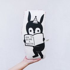 How To Become A Monster Rabbit Linen-Cotton Canvas by minifanfan