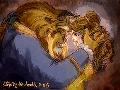 Fan-art of my favorite Disney couple, ever. Watercolor and colored pencils. (march It's look a bit like my Red Riding Hood drawing, yes ^^ Beauty and the Beast Disney Belle, Disney Love, Disney Magic, Disney Stuff, Beauty And The Beast Art, Beauty And The Best, Disney And Dreamworks, Disney Pixar, Disney Cartoons