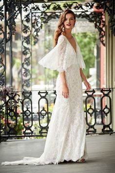 Tres Chic Gown From Bhldn Budget Wedding Ideas Details Rustic