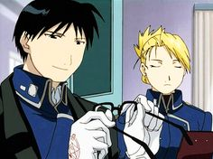 Yes! Fullmetal Alchemist! Roy Mustang and Riza Hawkeye