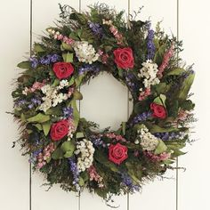 Garden Rose Wreath #williamssonoma