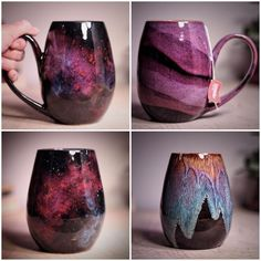 These galaxy-inspired ceramic mugs are out of this world Martha Ste . - These galaxy-inspired ceramic mugs are out of this world Martha Stewart - Ceramic Mugs, Ceramic Pottery, Ceramic Art, Ceramics Pottery Mugs, Glazed Pottery, Porcelain Ceramic, Stoneware, Ceramic Coffee Cups, Ceramic Sink