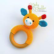 """Куклы и игрушки ручной работы. Ярмарка Мастеров - ручная работа """"Жирафик"""" грызунок. Handmade."""