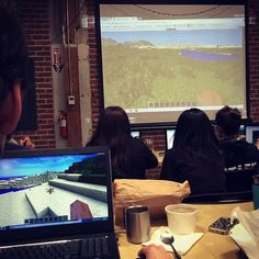 """""""And our partners at #youthdigital are giving a group of Galileo HQers a tutorial on modding with Minecraft. It's pretty incredible stuff. We are going to…"""""""