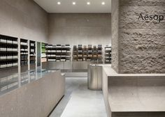 Stainless steel was used to create the display shelves and other functional fixtures throughout the store including the demonstration sink – an important fixture in all the Australian brand's stores.
