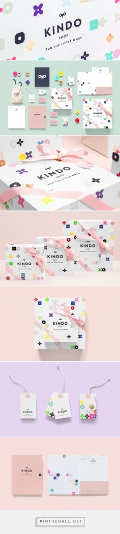 Kindo Shop - For the Little Ones. We love the colorful little graphics in this packaging and #stationery design.