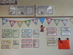 Great blog post about creating a cute, meaningful focus wall in primary classrooms!