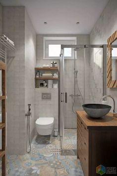 42 Super Creative DIY Bathroom Storage Projects to Organize Your Bathroom on a Budget - The Trending House Grey Bathrooms, Modern Bathroom, Master Bathroom, Neutral Bathroom, Bathroom Colors, Paint Bathroom, Bathroom Layout, Simple Bathroom, White Bathroom