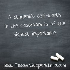 A student's self-wor