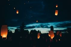 Chinese Flying Lanterns {andrea ball photography}