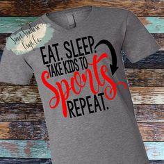 Eat Sleep Take Kids To Sports Repeat Women ShirtLadies
