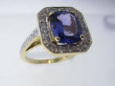 Menashe & Sons Jewelers Custom Tanzinite and diamond ring