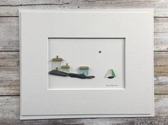 Pebble Art 8 by 10 PebbleArt by Sharon Nowlan choice of framed