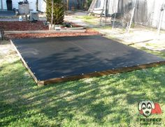 "the ""Perfect"" Kennel Floor installation method provides a gravel drainage layer.  Mount your kennel overtop for a floor that is easy to clean, drains well and comfortable surface for your dog to rest."