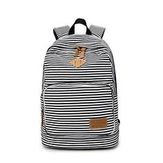 5b537a3b4f26f S Kaiko Stripe Canvas Backpack School Bakcpack For Women And Men School Bag  Daypack Teenager