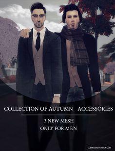COLLECTION OF AUTUMN ACCESSORIESDownloads: scarf / coat / earmuffs Love all ^_^ Enjoy!
