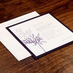 Purple Wildflower Bat Mitzvah Invitation