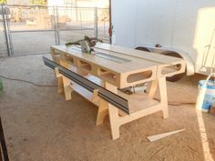 The Paulk Workbench- Nice how the tracks store in front #workbench  #Paulk  #woodworking  #DIY