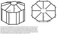 How to build a PVC yurt (prob much cheaper than wood frame!)