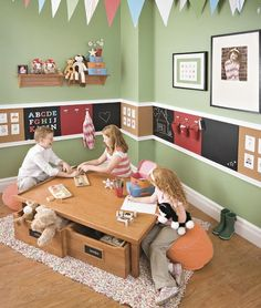 What's cheap, easy to do, and encourages creativity and imagination? Chalkboard paint! It can completely transform a space, whether it covers an entire wall or is used to cover a table top. Kids love it, especially in their room or on a special wall dedicated to them in the kitchen. It's perfect for doodling, writing …
