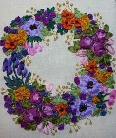ribbon needlework | POSSIBILITIES, etc.!: Great Classes for Stitches and Silk Ribbon!