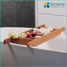 The Retreat Bath Caddy Is Made In Western Cedar Wood Perfect Addition For Your Freestanding