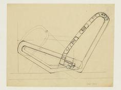 Design for an articulated chair | Eileen Grey, 1965